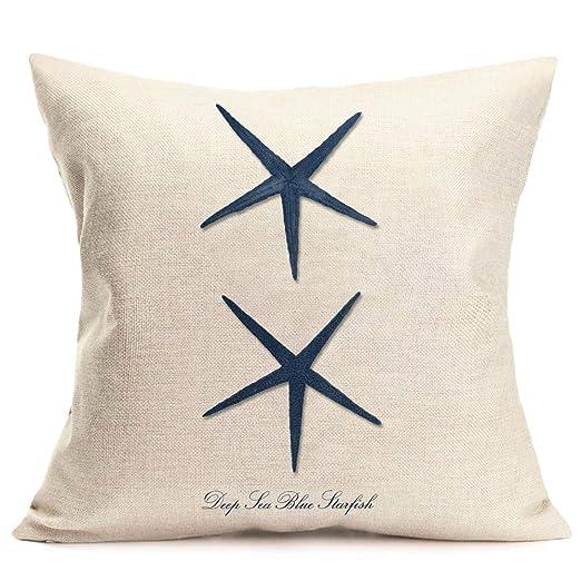 Fukeen - Funda de cojín con diseño de Caballito de mar Azul ...