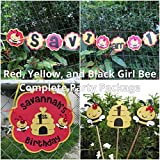 Girl Bumble Bee Party Decorations - Complete Party Package - Red and Yellow