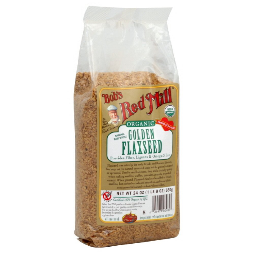 Bob's Red Mill Flaxseed Golden Organic, 24-ounces (Pack of2)