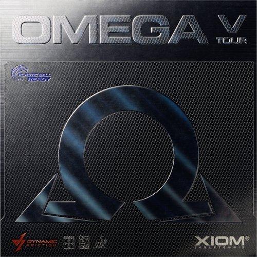 XiomオメガVツアーTable Tennisラバー B00TXV1E6G レッド Max