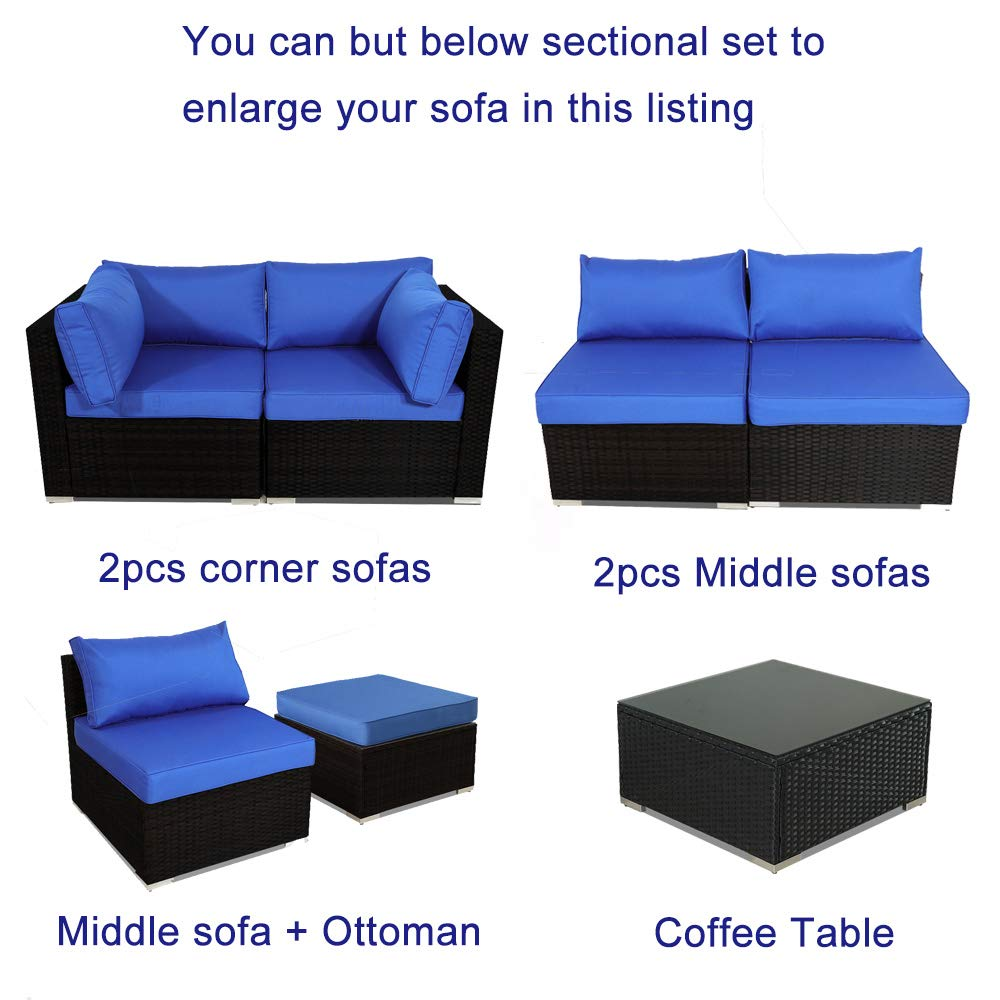 Amazon.com: Leaptime - Sofá de exterior de 9 piezas de ...