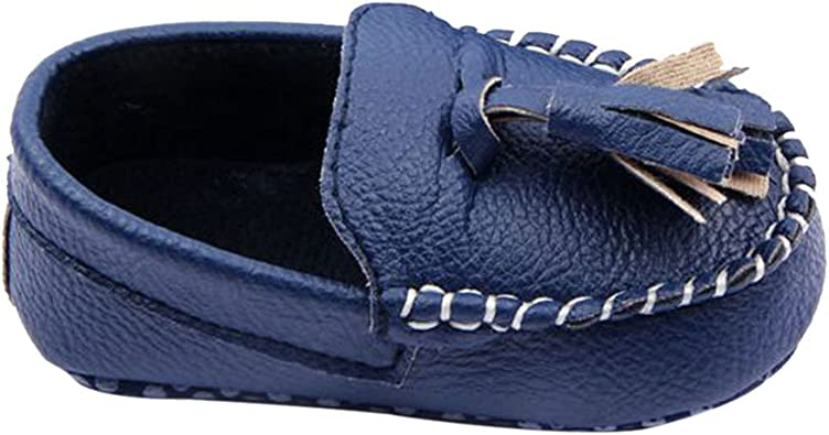 US Kids Boys Girl Toddler Slip On PU Leather Flat Loafers Casual Boat Shoe Size