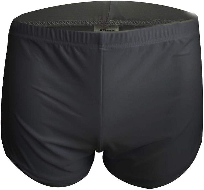 Loose Comfy Mens Boxer Shorts Pajamas Side Split Underwear Shorts Panties,Black,M
