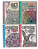 img - for Art Colour Creative and Calming An Anti Stress Therapy Adult Colouring 4 Books Collection set (Doodle and Colour Yours Stress Away) book / textbook / text book