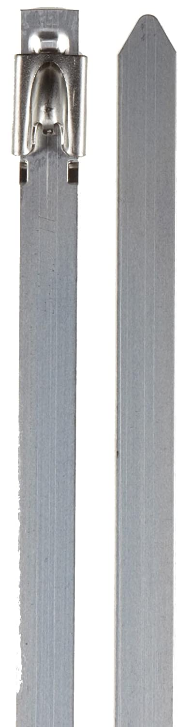 BAND-IT KE1338 UNCOATED 304 STAINLESS STEEL BALL-LOK CABLE TIE 5 | 16 WIDTH 10.2 LENGTH 0.010 THICK 2.7 MAXIMUM DIAMETER BAG OF 100