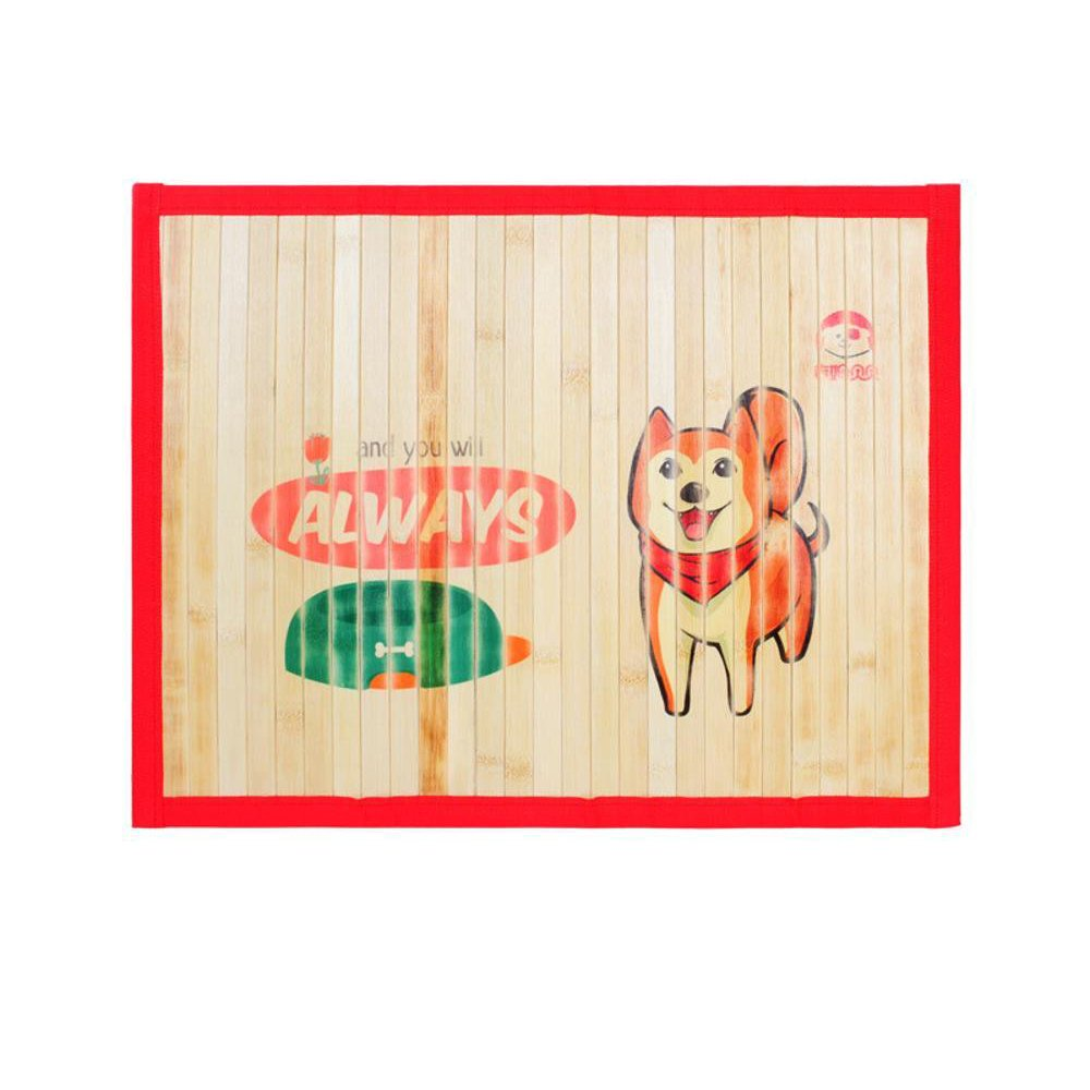 A S A S Daeou Pet mat Pet Mats Mat Summer Bamboo Kennel cat Litter Pet Supplies
