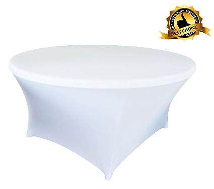 150cm Round Spandex Lycra Stretch Cover Tablecloth Wedding Birthday Party 5ft