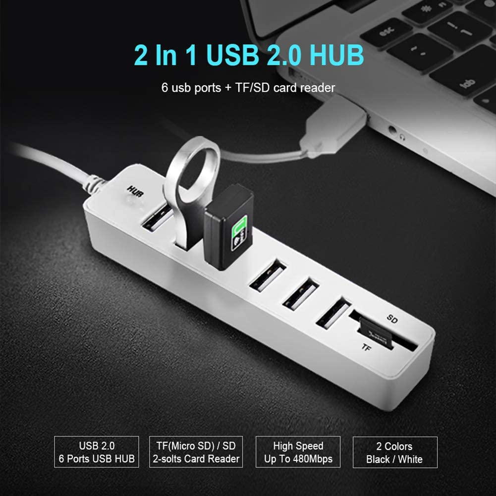 USB Hub 3.0 Multi USB 3.0 Hub USB Splitter High Speed 3 6 Ports 2.0 Hab TF SD Card Reader All in One for PC Computer Accessories