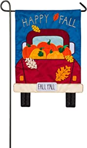 Evergreen Flag Indoor Outdoor Décor for Homes Gardens and Yards Fall Yall Pickup Truck Garden Applique Flag