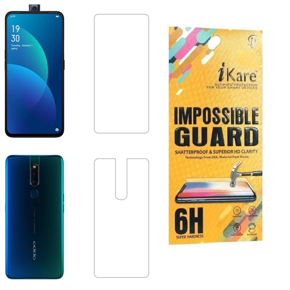 iKare Impossible Oppo F11 Pro Front and Back Tempered Screen Guard for Oppo  F11 Pro - Transparent (Does not Cover The Edges)
