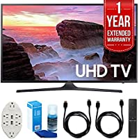 Samsung UN43MU6300 43 4K Ultra HD Smart LED TV (2017 Model) with 1 Year Extended Warranty + Accessories Bundle