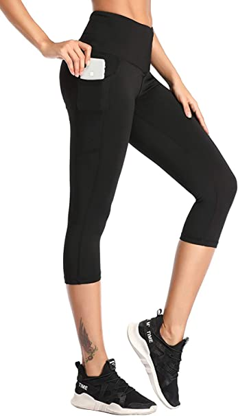 Self Pro Yoga Pants Women High Waist Full Length Leggings w/ 2 Pockets for Phone and Keys