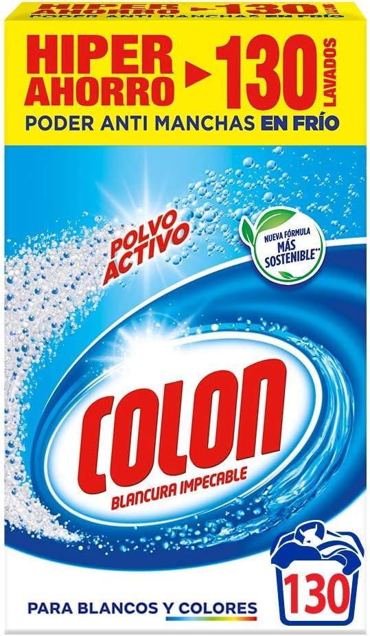 Colon Detergente de Ropa para Lavadora Polvo Activo - 130 Lavados ...