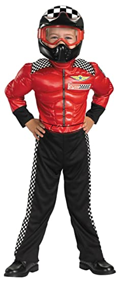 Disguise Boys Turbo Racer Kids Child Fancy Dress Party Halloween Costume, S (4-