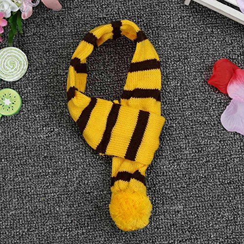 6Pc/Set Dog Pet Puppy Hat Scarf Leg Warmer Pet Clothes Neckerchief Autumn Winter Dog Cat Scarf Collar Pet Scarf Teddy Poodle Scarf Bichon Scarf Dog Bibs Dog Bandana Scarf (Yellow, S) by succeedtop (Image #4)