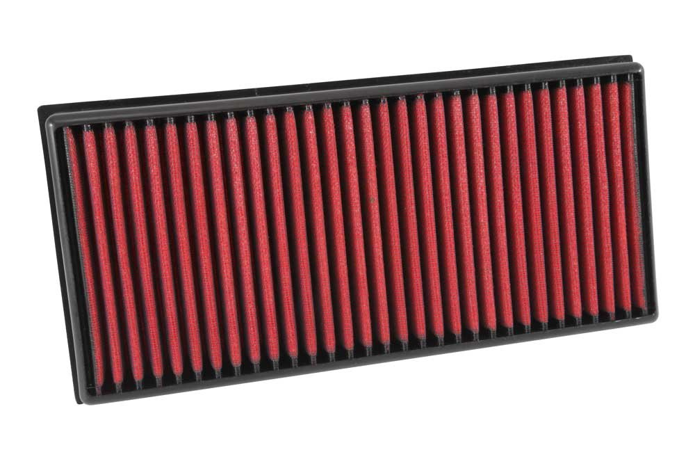 AEM 21-203D Universal DryFlow Clamp-On Air Filter: Round Tapered; 3 in Height; 6 in Base; 5.125 in 130 mm 152 mm Flange ID; 5.125 in 130 mm 76 mm Top