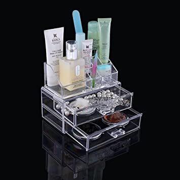 Luxury Clear Acrylic Makeup Organiser with drawers. Vanity Case Box Gift for girl or woman & Luxury Clear Acrylic Makeup Organiser with drawers. Vanity Case ... Aboutintivar.Com