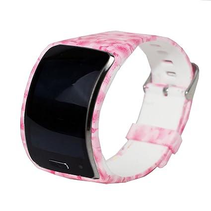 Pour SAMSUNG Gear S Sm-r750 Mode en caoutchouc montre bracelet Sangle Bracelet en silicone