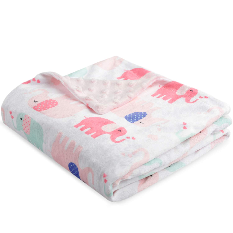 75 x 100cm Gr/ün Boritar Fox Babydecke Weich Decke Minky mit doppelter gepunkteter R/ückseite Warme Weiche Ultra Soft F/ür Kinder und s/ü/ße Kinderdecke f/ür Kleinkindbett