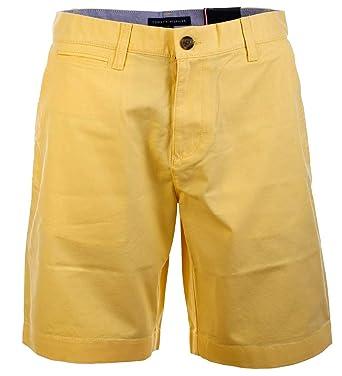 super service neue niedrigere Preise marktfähig Tommy Hilfiger Herren Chino Shorts Kurze Hose Bermuda Yellow ...
