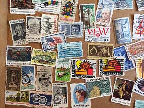 100 worldwide Stamp Collection, most older than 50 years, great starter kit