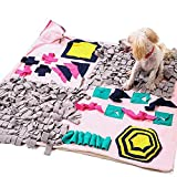 "Dononna Wooly Snuffle Mat Pet Sniffing Pad Nosework Blanket Dog Training Mats Dog Feeding Mat Pet Activity Mat Great for Stress Release (27.6"" x 39.4"")"