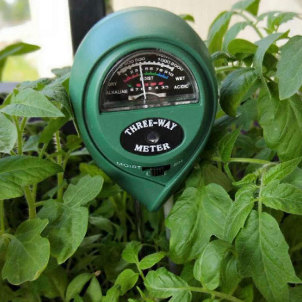 x 1 pH-Wert und Licht Hygrometer Bonsai gr/ün f/ür Garten Feuchtigkeitstester f/ür Pflanzen Sensor f/ür Bodenfeuchtigkeit Naisicatar 3-in-1-Bodentester f/ür Feuchte Pflanzen