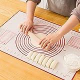 GREENRAIN Extra Large Silicone Pastry Mat Non Stick Baking Mat with Measurement Fondant Mat, Counter Mat, Dough Rolling…