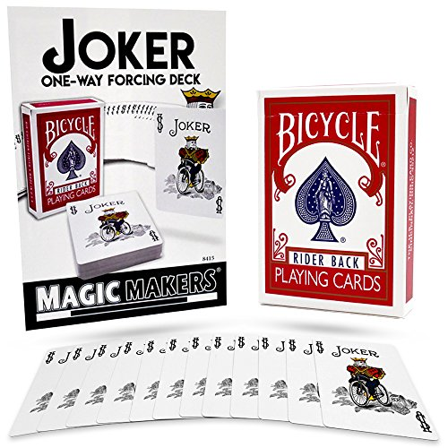 Magic Makers Bicycle One Way Forcing Red Back Deck - Joker