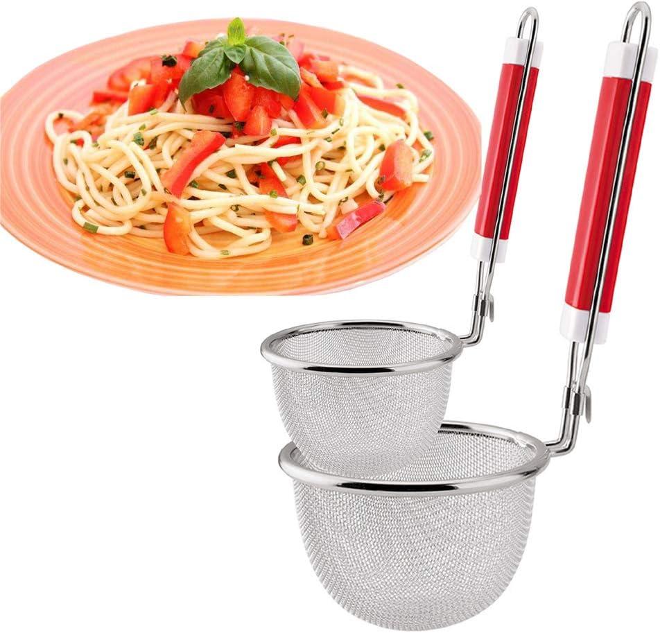 Stainless Colanders Pasta Spaghetti Sieve Drainer Kitchen Organizer Large