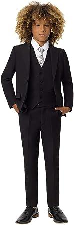 3 Piece Wedding Suit Waistcoat /& Trouser Set 1-14 Years Jacket Roco Boys Modern Fit Suit