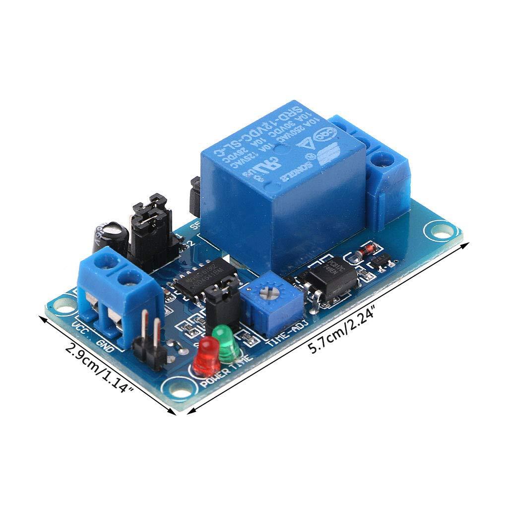 LANDUM DC 12V normalement Ouvert Relais temporis/é 250V AC Activer//d/ésactiver Le Module de Commutation