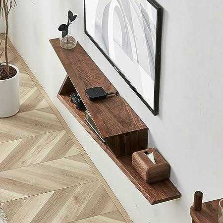 Asimétrica Flotante Consola para TV,Pared TV Mueble Gabinete Colgado Creativo Moderno Almacenamiento para Set-Caja De Cable Superior A 150x24x16cm(59x9x6inch): Amazon.es: Hogar
