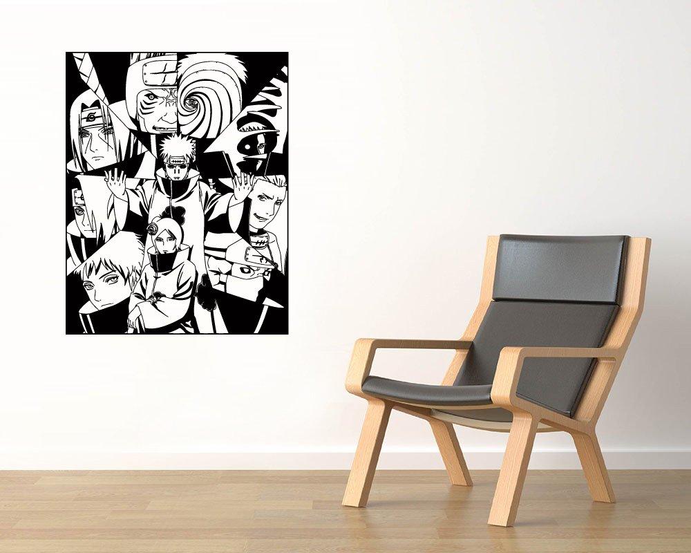 Amazon.com: Akatsuki Vinyl Wall Decals Itachi Kisam Hidan ...
