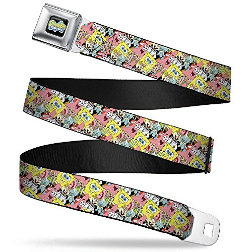 Buckle-Down Seatbelt Belt - SpongeBob 5-Characters Stacked -