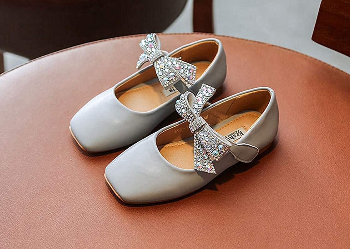 Grey 37//5 M US Little Kid Girls Mary Jane Shoes Cute Flat Shoes Dress Shoes Casual Shoes