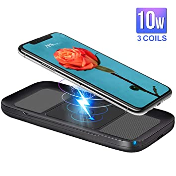ARINO Wireless Charger Qi Cargador inalámbrico Cargador rápido Carga inductiva para iPhone X/8/8 Plus, Galaxy S9/S8/S8 Plus/S9/Note 8; Nexus, HTC, LG ...