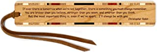 product image for Christopher Robin Quote Engraved Wooden Bookmark with Suede Tassel - Search B071NGVC3D to See Personalized Version