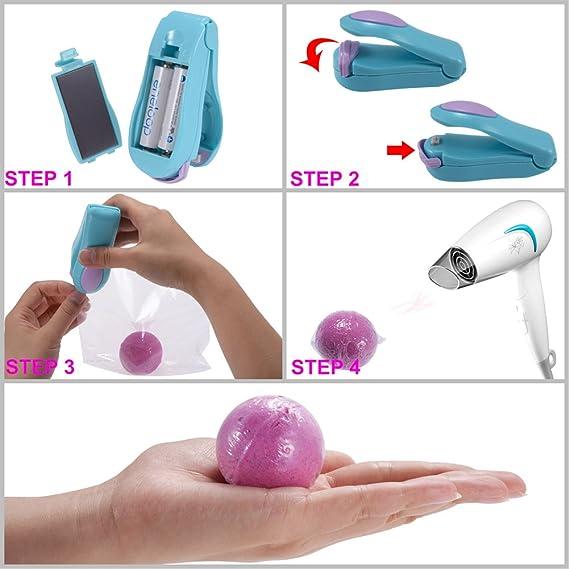 Molde de bomba de baño, PChero Molde de bomba de baño de jabón DIY Set 3 piezas con 100 bolsas de en: Amazon.es: Hogar
