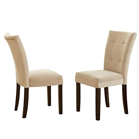 Steve Silver Company MT200BE Matinee Parsons Chairs (Set Of 2), Beige