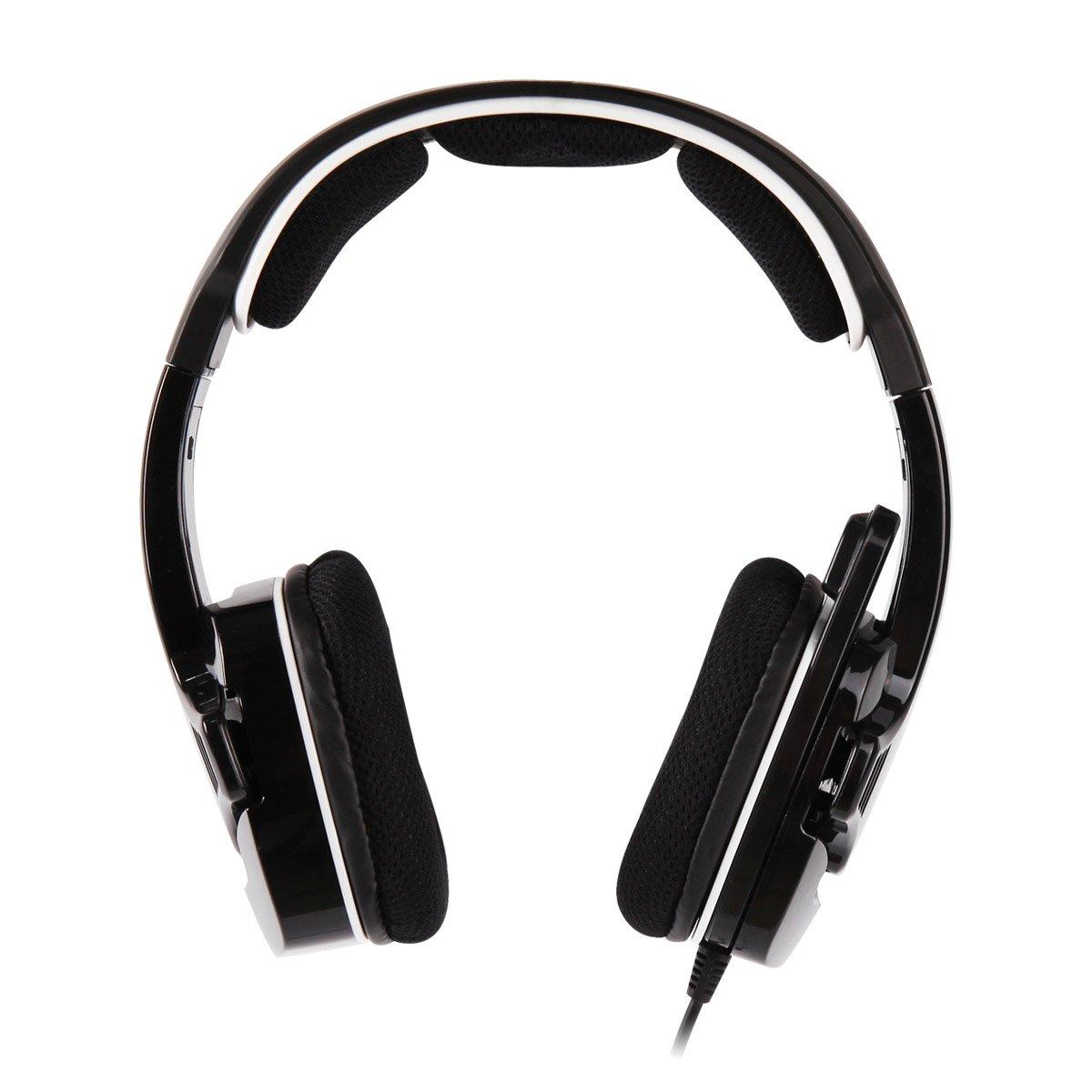 SADES Spider, Auriculares estéreo, Micrófono plegable, Orejera suave, Negro