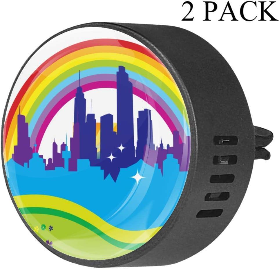 Rainbow City Clip de ventilación de difusor de vidrio para coche ...