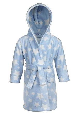 Babytown Baby Girls Velvety Soft Hooded Star Dressing Gown