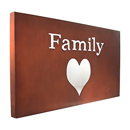 Amazon.com: Star Creations Family Heart Metal Wall Art Love ...