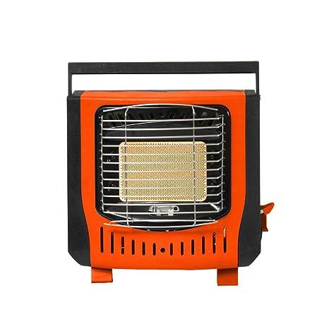Easy-topbuy Portátil Estufa de Calefacción Cómodo Compacto - Encendido Electrónico Piezoeléctrico Gas Butano Metano