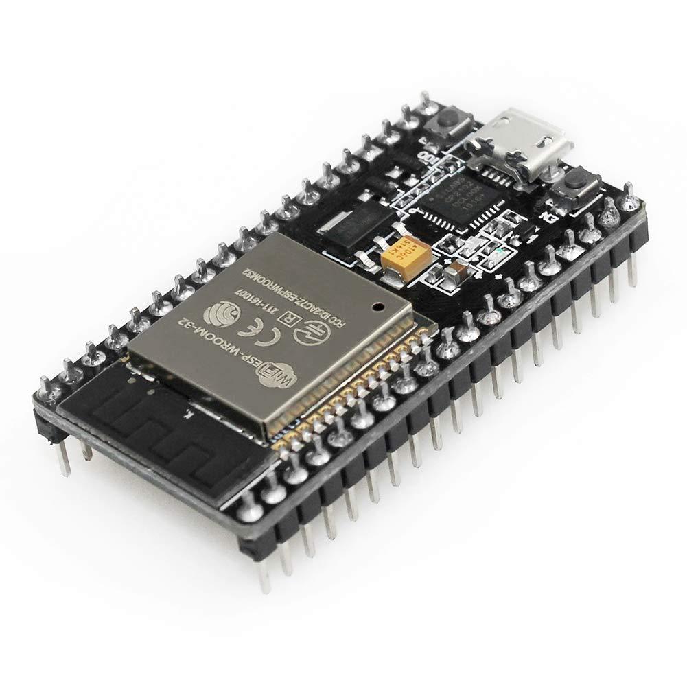 KeeYees ESP32 ESP-32S Development Board 2.4 GHz Dual Core WLAN WiFi 2PCS Bluetooth 2-in-1 Microcontroller ESP-WROOM-32 Chip for Arduino