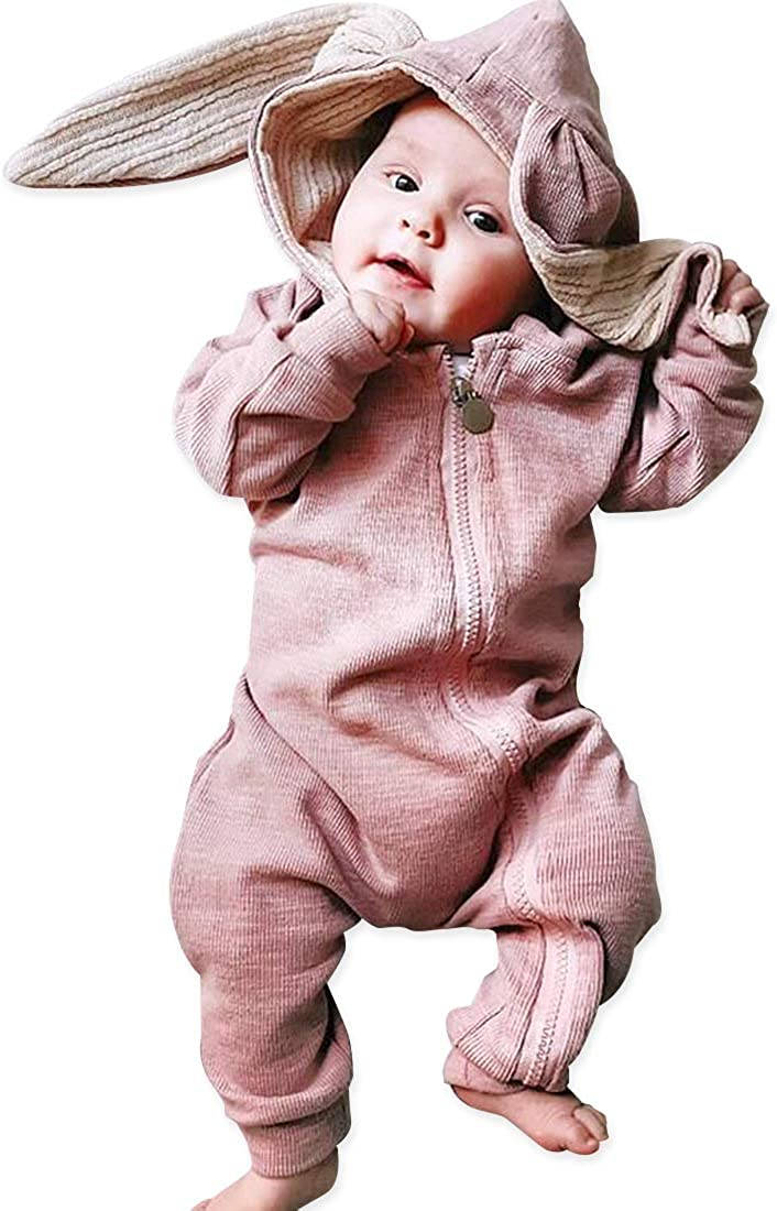 Simplee kids Unisex Baby Boy Girl Romper Cotton Bodysuits Bunny Baby Pajamas Baby Clothes for 0-3 Years
