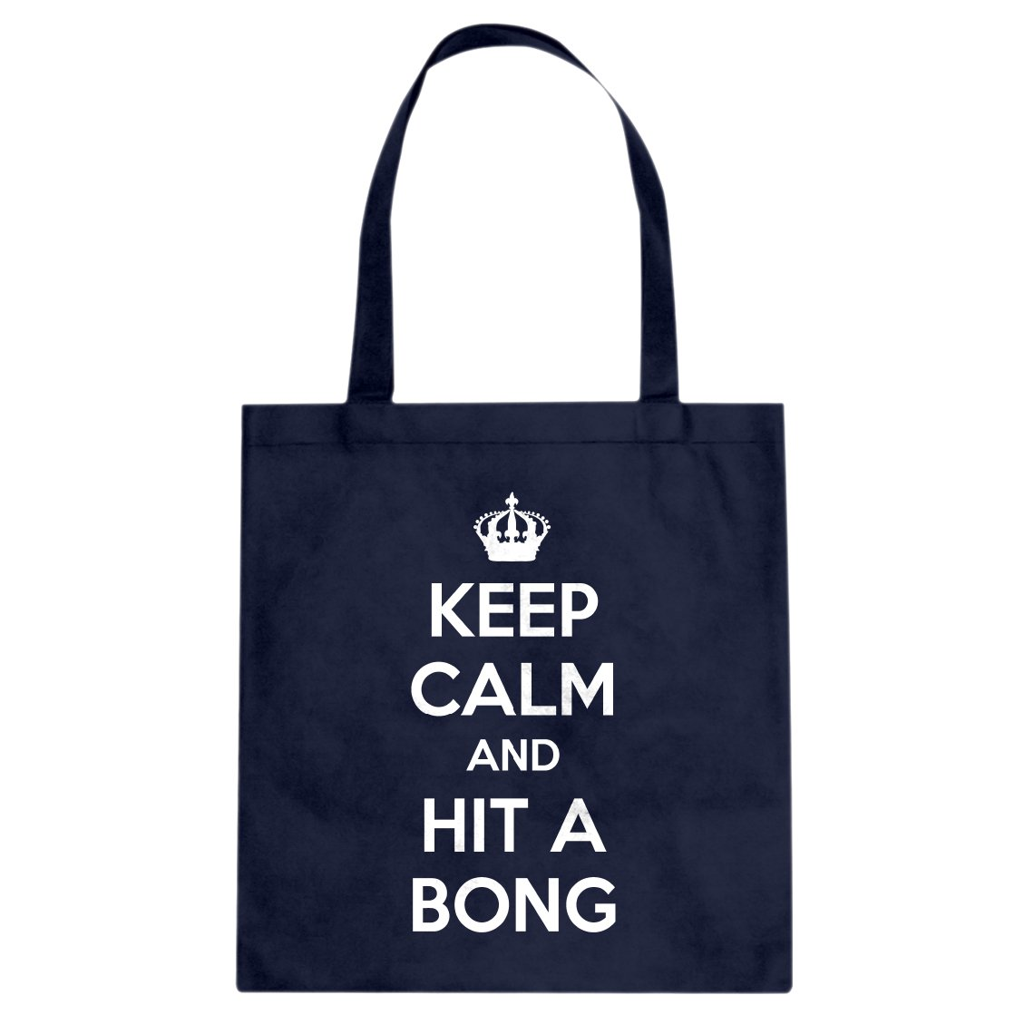 Tote Keep Calm and Hit a Bong Large Forest Green Canvas Bag Indica Plateau 3024-B-FG-L