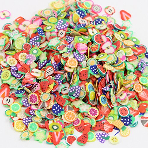 2*10 g/lot (Approx2*1000pcs) Randomly Mixed Design Fruit Slices Polymer Clay Beads Phone (Mixed Clay)