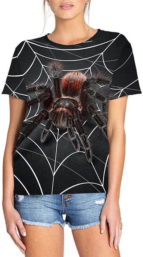 f308543f8 FLYCHEN Camiseta para Mujeres con Moda 3D Impreso Casual Novedad Dibujos  Geométricos de Animales Women s T-Shirt Tees Graphic  Amazon.es  Ropa y  accesorios